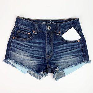 American Eagle   hi rise festival denim shorts 00
